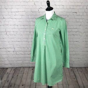Size XS Gap green gingham shirt dress